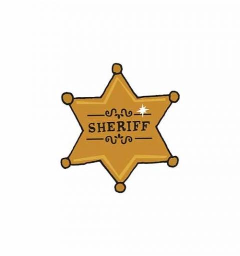 Chapa de Sheriff - Tatuaje temporal