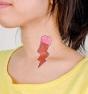 Helado de fresa - Tatuaje temporal