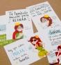 Set de postales Reina Pecas