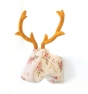 Cabeza trofeo ciervo tela de flores