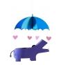 Móvil infantil hipopótamo