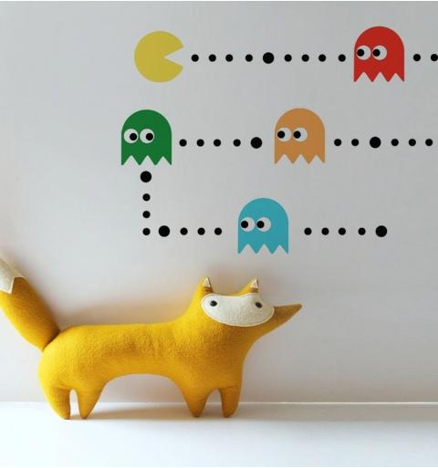 Vinilo decorativo Pacman comecocos