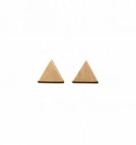 Pendientes triangulares dorados