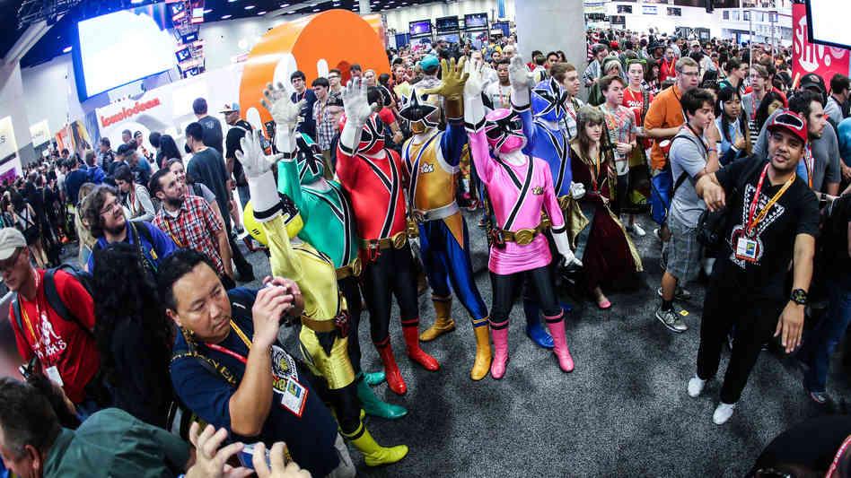 Power Rangers en la Comic con de San Diego 2013