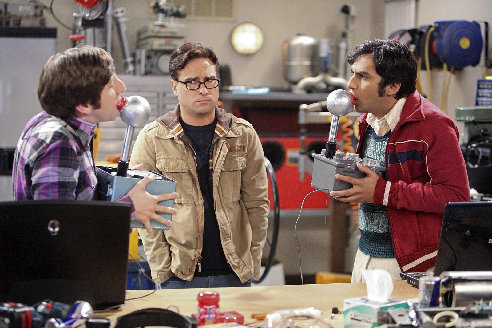 Escena de la popular serie big bang theory