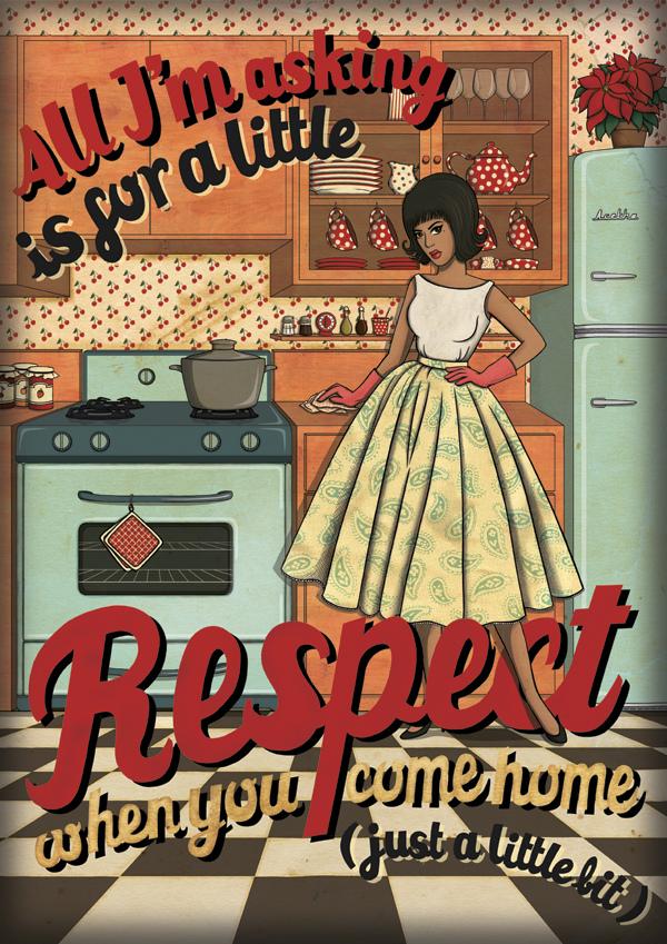 Canción Respect de Aretha Franklin ilustrada