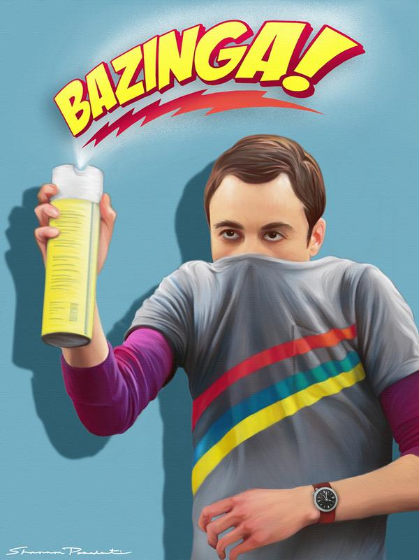 Sheldon cooper fumigando
