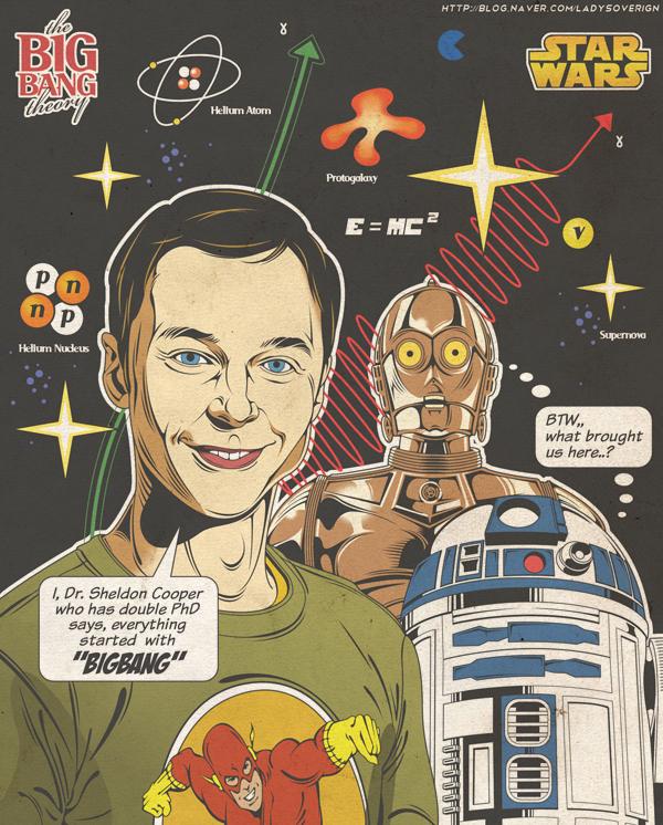Sheldon guerra de las galaxias