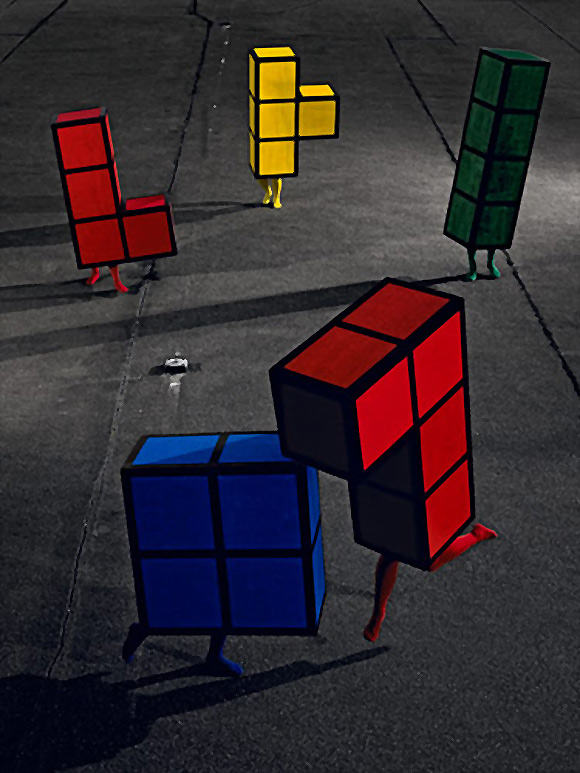 Tetris, videojuegos retro en la vida real