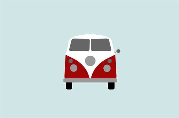 adiós furgoneta Volkswagen clásica