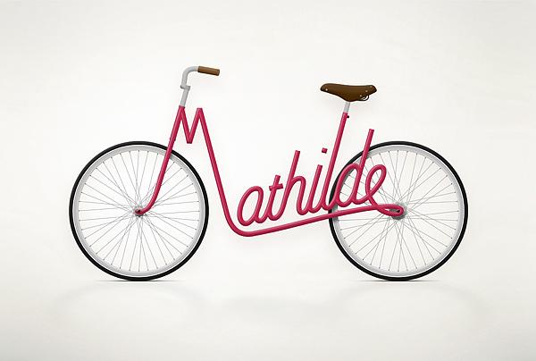 Bicicletas con nombre diseño