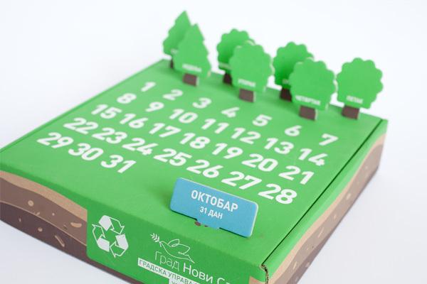 Calendario perpetuo do it yourself reciclable