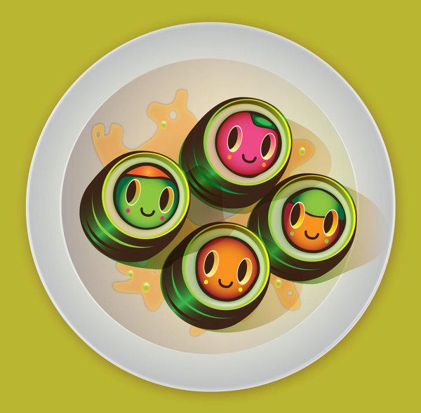 comida con ojos
