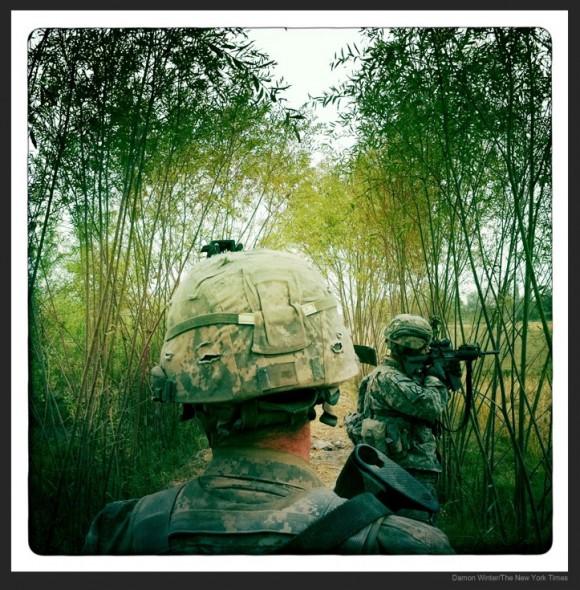 Imagen en la guerra de Afganistán de Damon Winter tomada con el Iphone