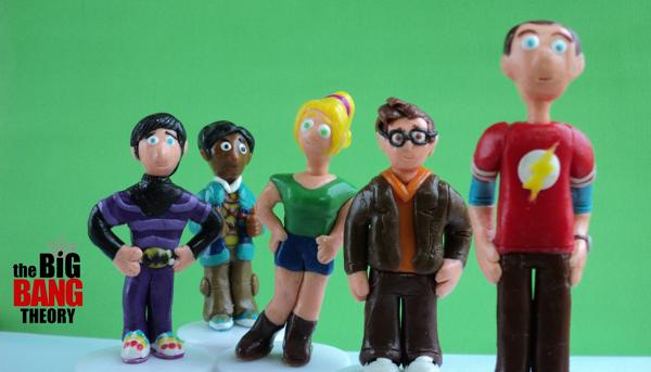 Esculturas de personajes de Big bang theory