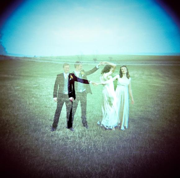 fotos de boda con lomo, lomografía