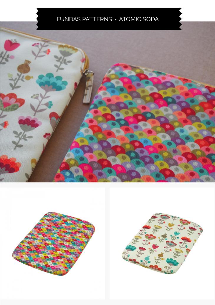 Fundas para ipad de flores y patterns con un diseño muy cool