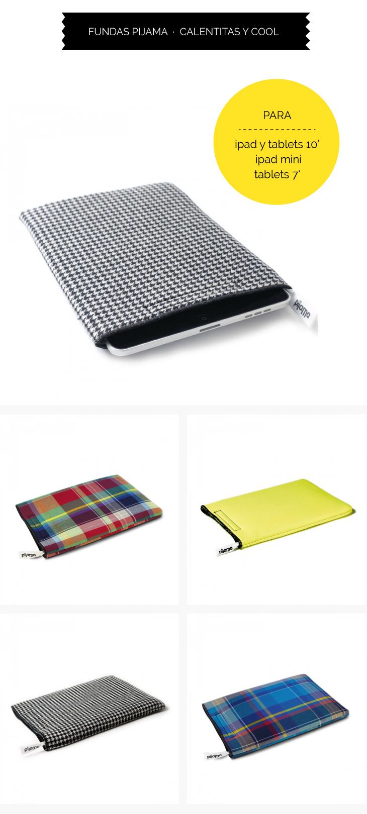 Fundas para Ipad Pijama, ipad mini y tablets de siete pulgadas