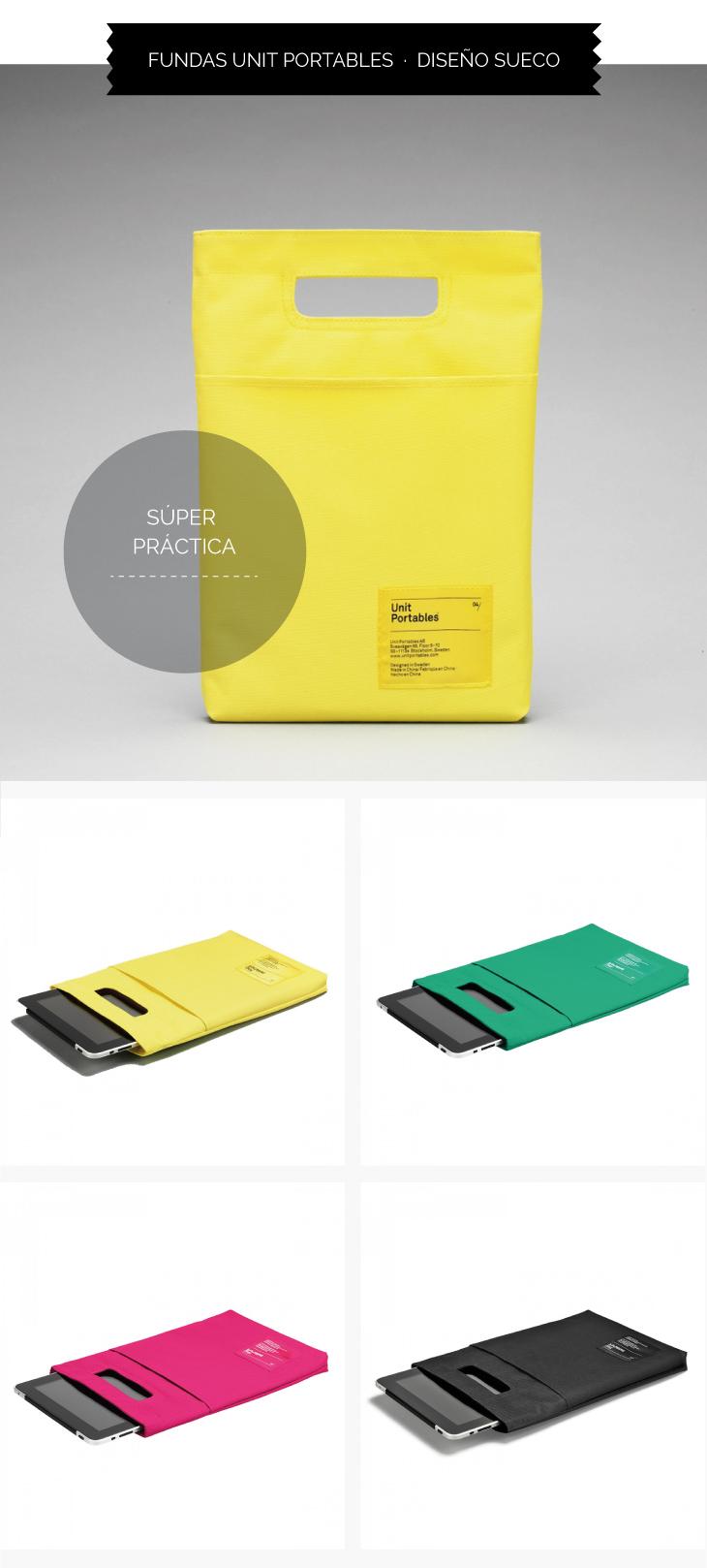 Regalo original funda para Ipad Unit Portables con un diseño muy cool
