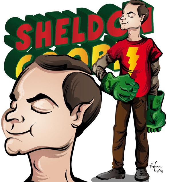 Sheldon Cooper y sus manos de Hulk