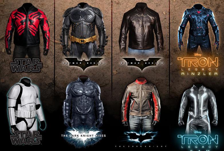 Chaquetas de superhéroes y villanos