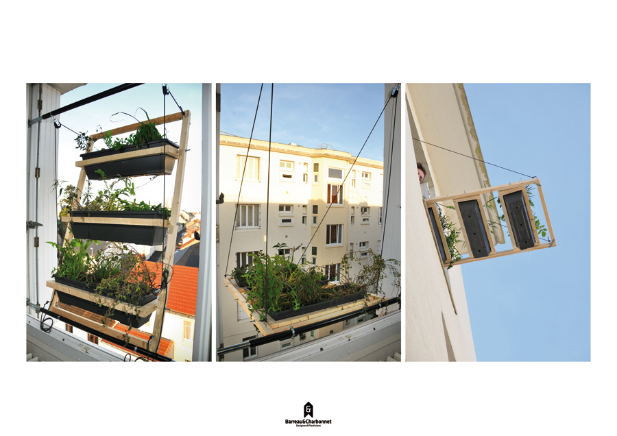 Jadin urbano vertical ideado por los franceses  Barreau y Charbonnet