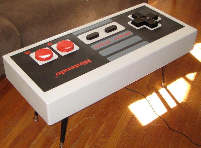 Mesa mando controlador nintendo 8 bits wii retro