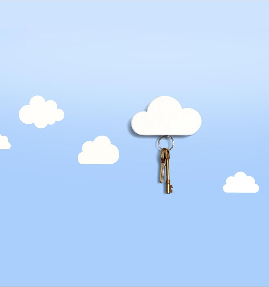 Nube magnética para colgar las llaves