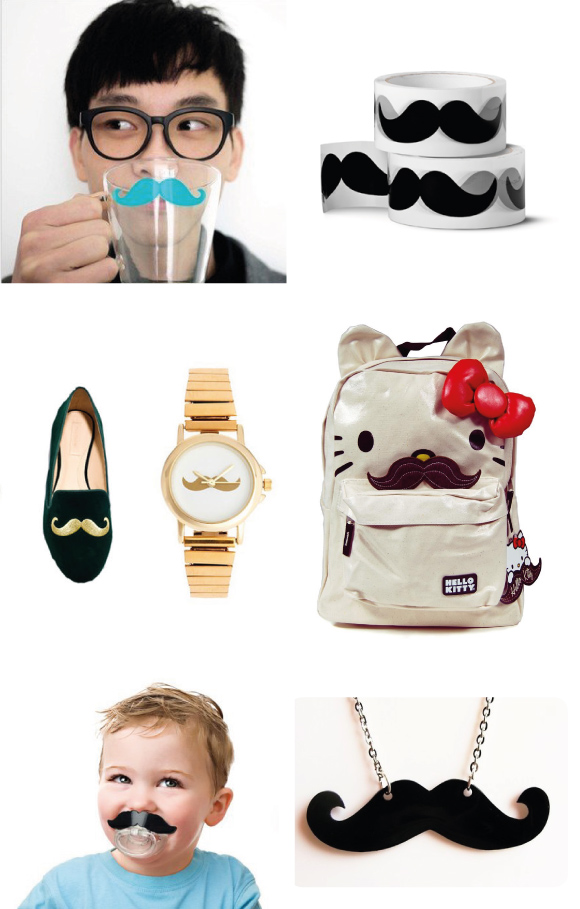 objetos bigotes moustache