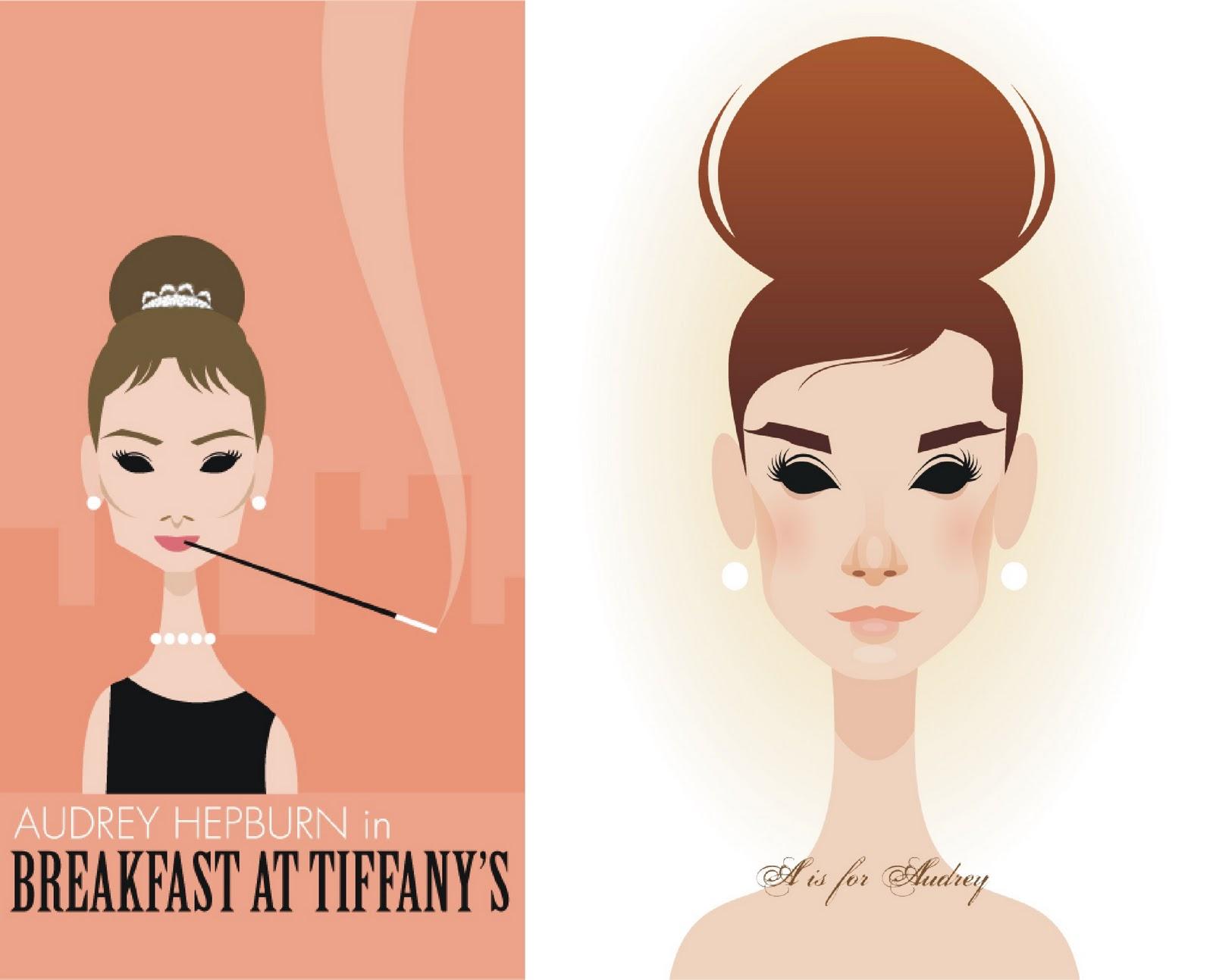 Audrey Hepburn Ilustraciones de Stanley Chow, un ilustrador de cine