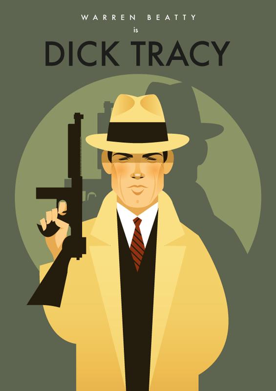 Dick Tracy Ilustraciones de Stanley Chow, un ilustrador de cine