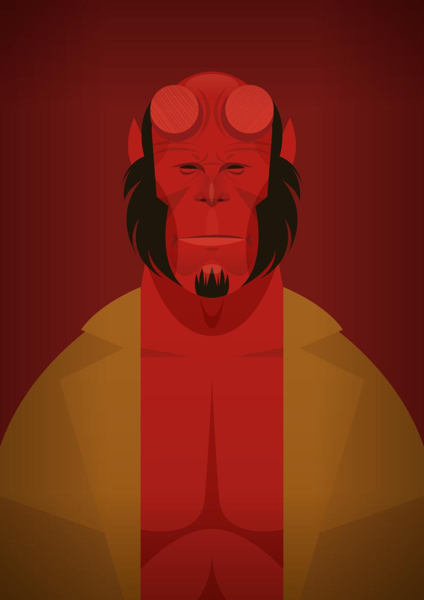 Hellboy Ilustraciones de Stanley Chow, un ilustrador de cine