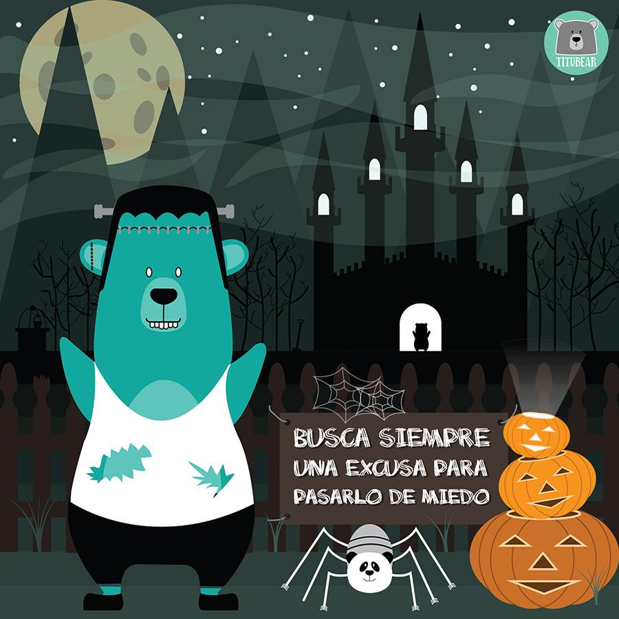 Ilustración de Titu para sorteo de Halloween