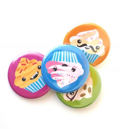 Set de imanes cupcakes