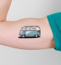 Furgoneta retro - Tatuaje temporal