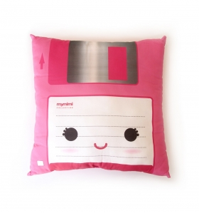 Cojín kawaii diskette rosa