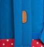 Mochila Herschel azul y roja lunares