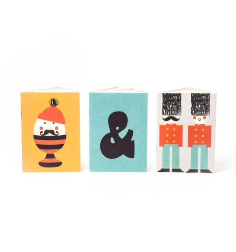 Set de 3 cuadernos Egg & soldier