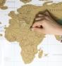 Mapa del mundo para rascar