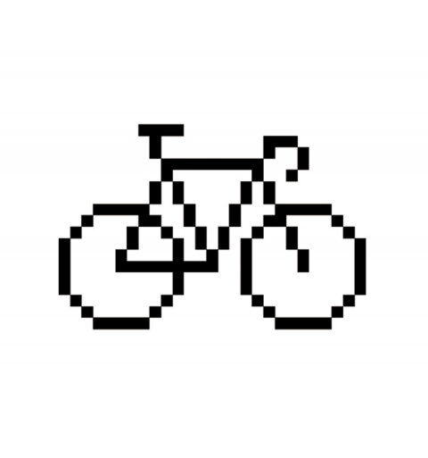Pixel bike - Tatuaje temporal