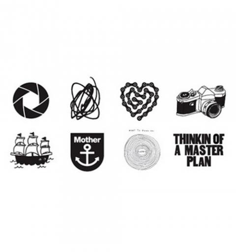Tatuaje Temporal En Blanco Y Negro Pack Con 8 Diseños