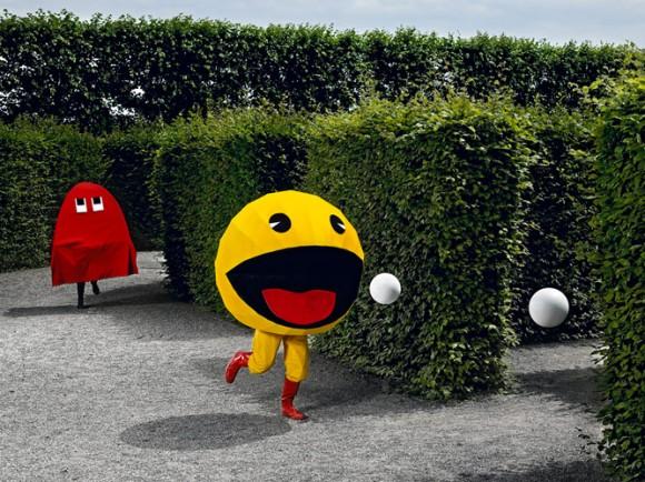Pac-man, videojuegos retro en la vida real