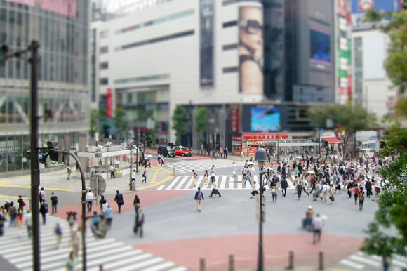 Tilt Shift Tokyo Street 3 24x36-M