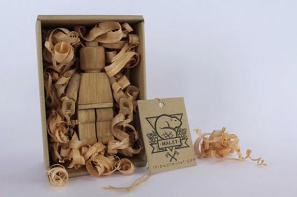 regalo original figura lego madera